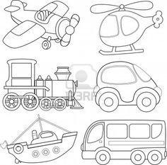Cartoon transport Coloring book Stock Photo - 16023744 | рисовалка ...