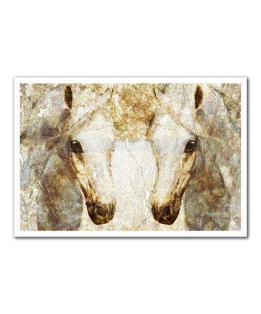 Another great find on #zulily! Gold Stallions Print #zulilyfinds