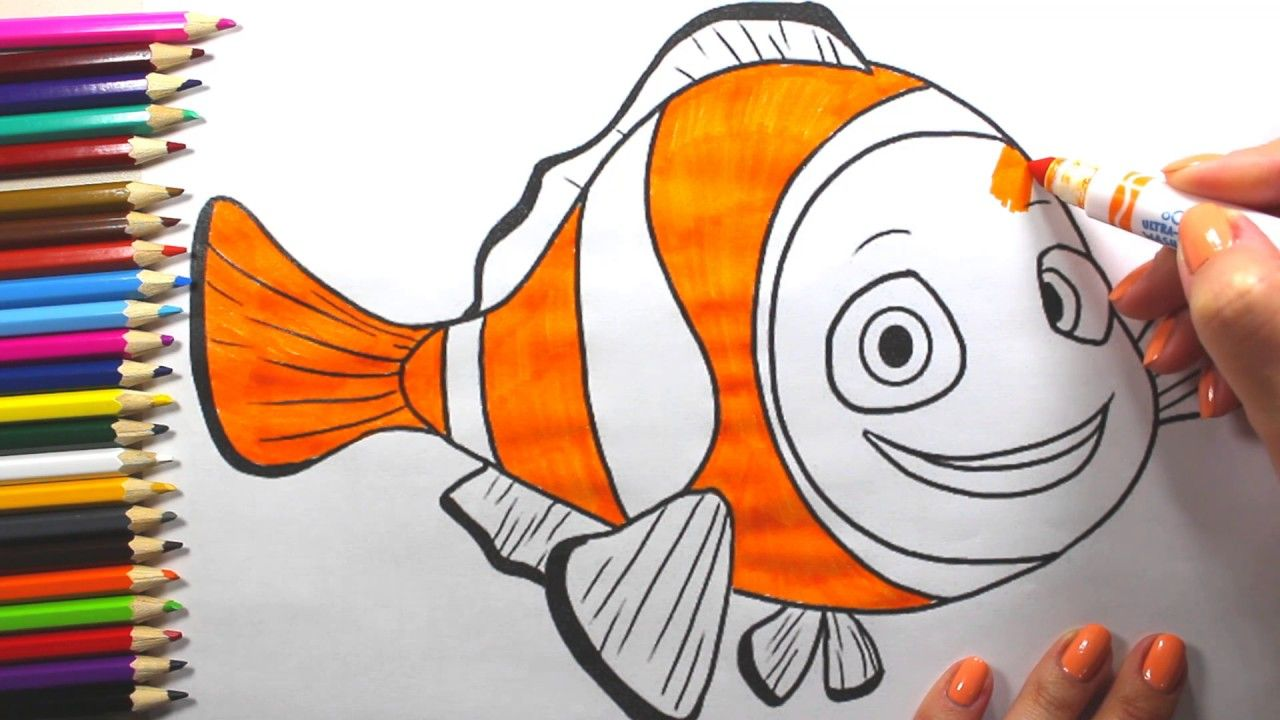 Fish Coloring Page | How to Draw Fish | for Children Videos ...