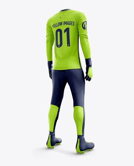 Download Men S Full Soccer Goalkeeper Kit With Pants Mockup Hero Back Shot In Apparel Mockups On Yellow Images Object Mockups Clothing Mockup Goalkeeper Kits Shirt Mockup