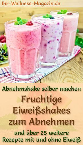 Photo of Fruity protein shakes – smoothies & slimming shakes to make yourself