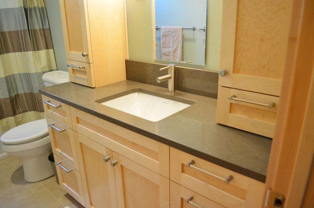 light maple cabinets, grey floor - - Yahoo Image Search ...