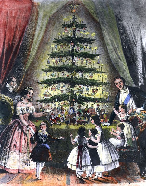 Image result for vintage christmas tree queen victoria