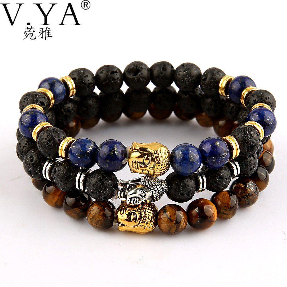 Famous Brand Silver Gold Lion Buddha Bracelets Bangles