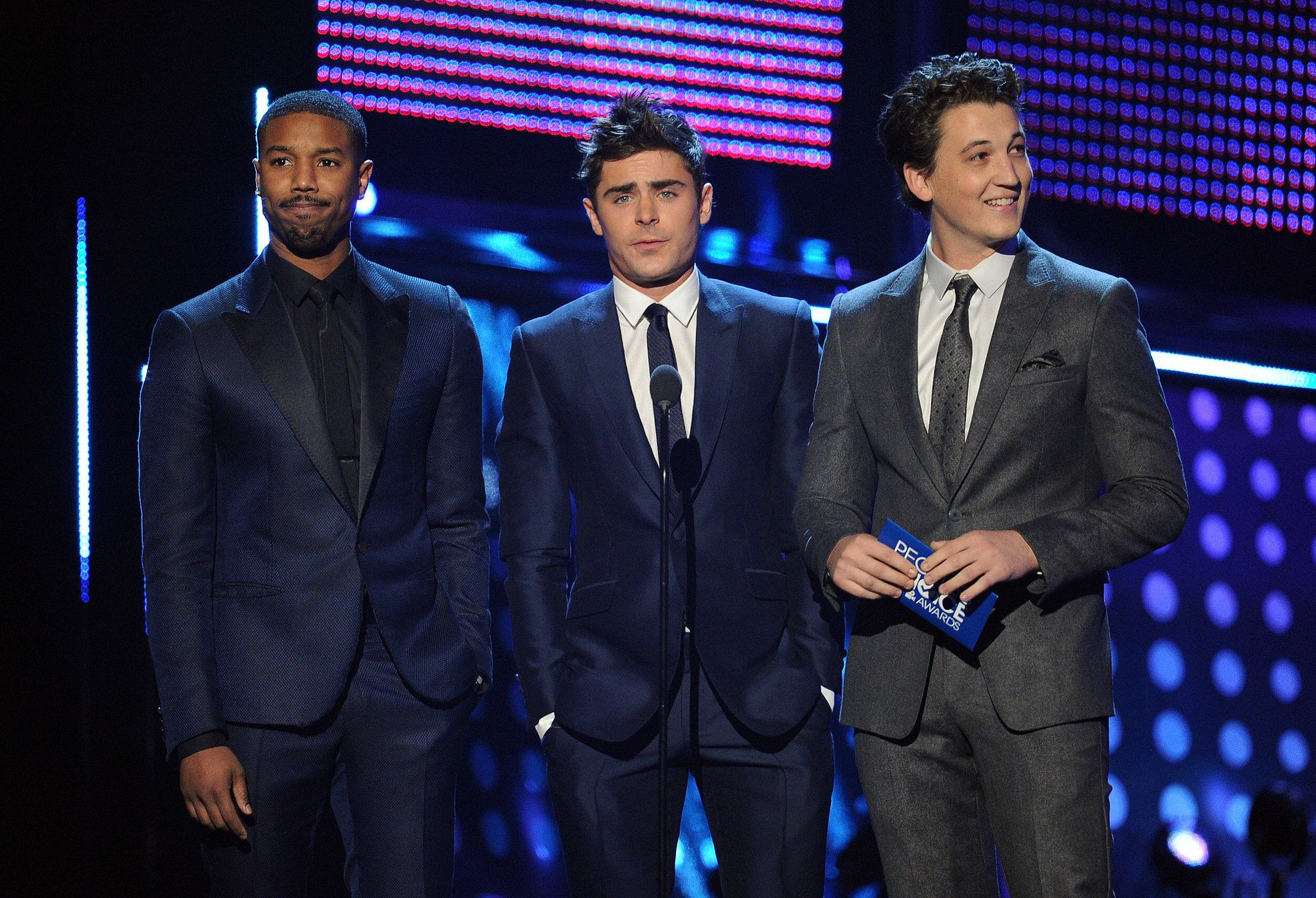 Go inside the peoples choice awards miles teller zac efron michael b jordan zac efron and miles teller presented at the pcas kristyandbryce Images