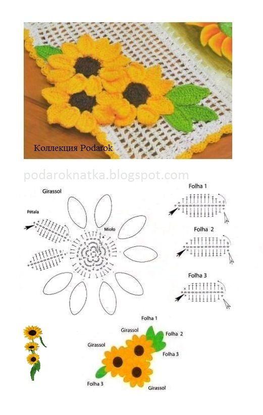 flowers | Crocheting | Pinterest | Adornos, Flor y Patrones