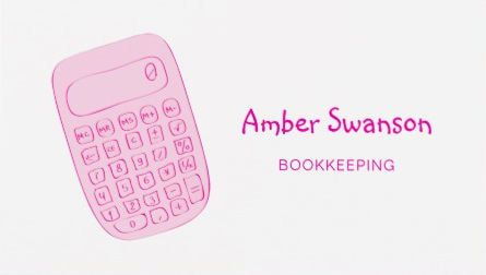 Cute pink calculator for accountant and bookkeeper business cards cute pink calculator for accountant and bookkeeper business cards colourmoves