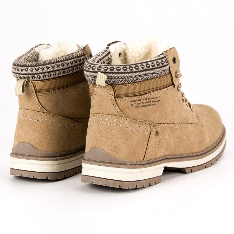 Arrigo Bello Ocieplane Traperki Brazowe Boots Winter Boot Shoes