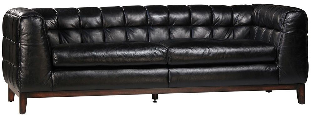 Marvelous 87 Black Chesterfield Top Grain Italian Leather Sofa Squirreltailoven Fun Painted Chair Ideas Images Squirreltailovenorg