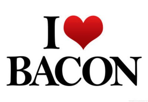 'I Heart Love Bacon Funny Poster' Prints - | AllPosters.com