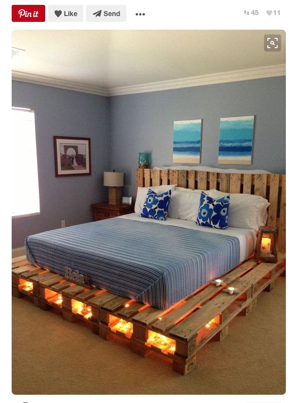 Base y cabecera de cama. Foto: PInterest. | Cuarto | Pinterest ...