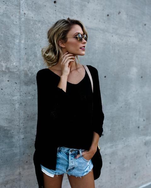 Quincy Knit Sweater - Black - BESTSELLER