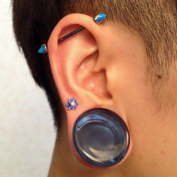 Ear plug, tunnel, industrial #anatometal #solitudestudio # ...