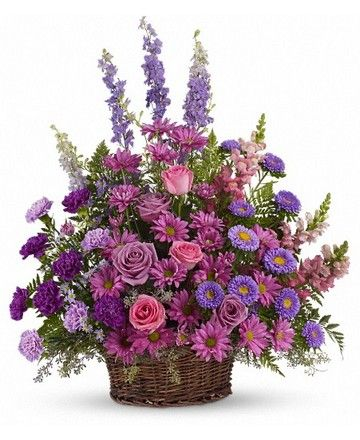 Royer's flowers and gifts - Teleflora Gracious Lavender Basket