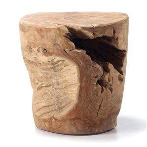 Anaport Solid Teak Stump Decorative Side Table / Stool