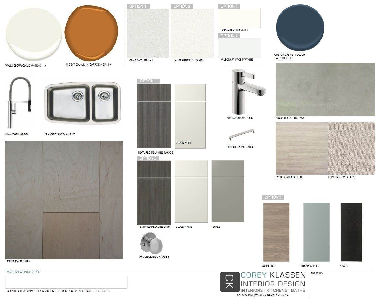 Digitial Material Board From Corey Klassen Interior Design