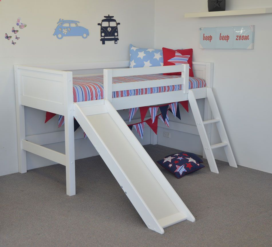 Loft bed with slide weight limit  Midi sleeper in single size great for small bedrooms Gives you a