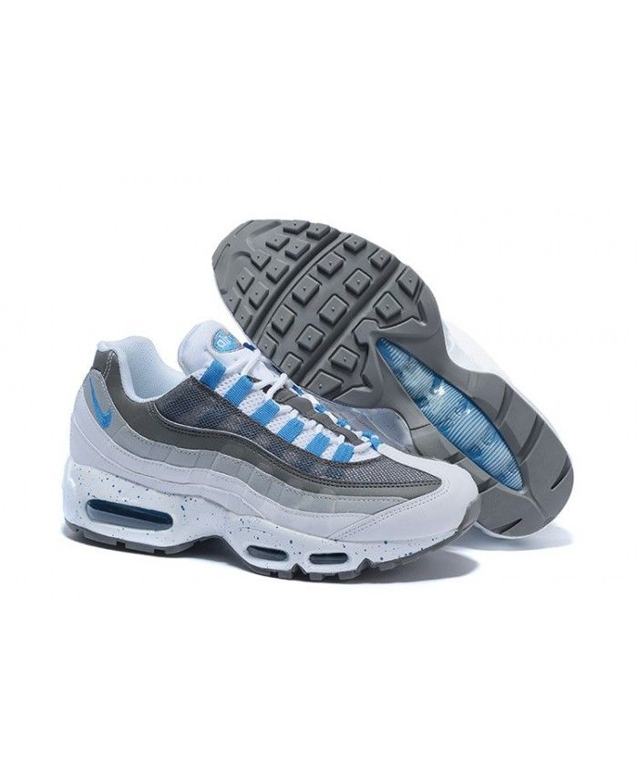 on sale c9d9f 3b791 Nike Air Max 95 Custom Cool Grey Blue Trainers