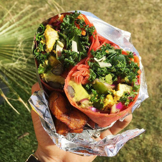Reggae Wrap From Strictly Vegan Jamaican Cuisine Vegan Food