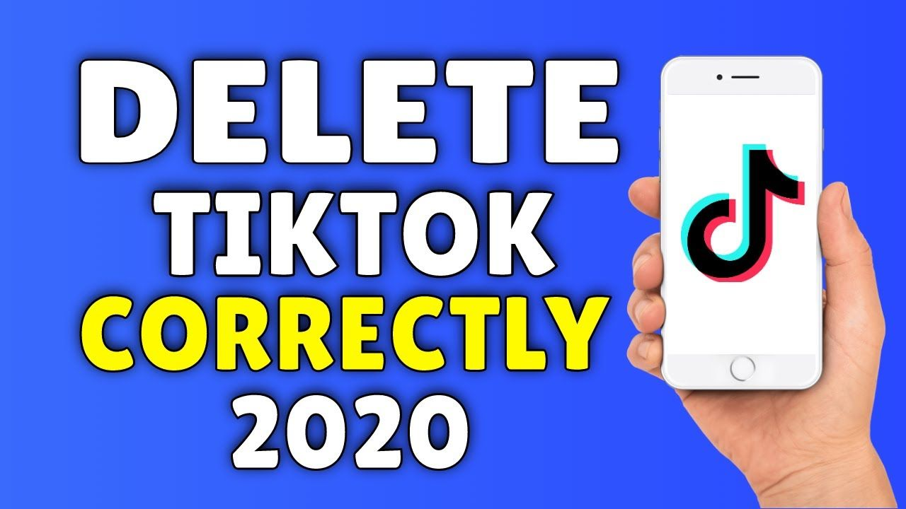 How to delete a tiktok account 2020 in 2020 accounting