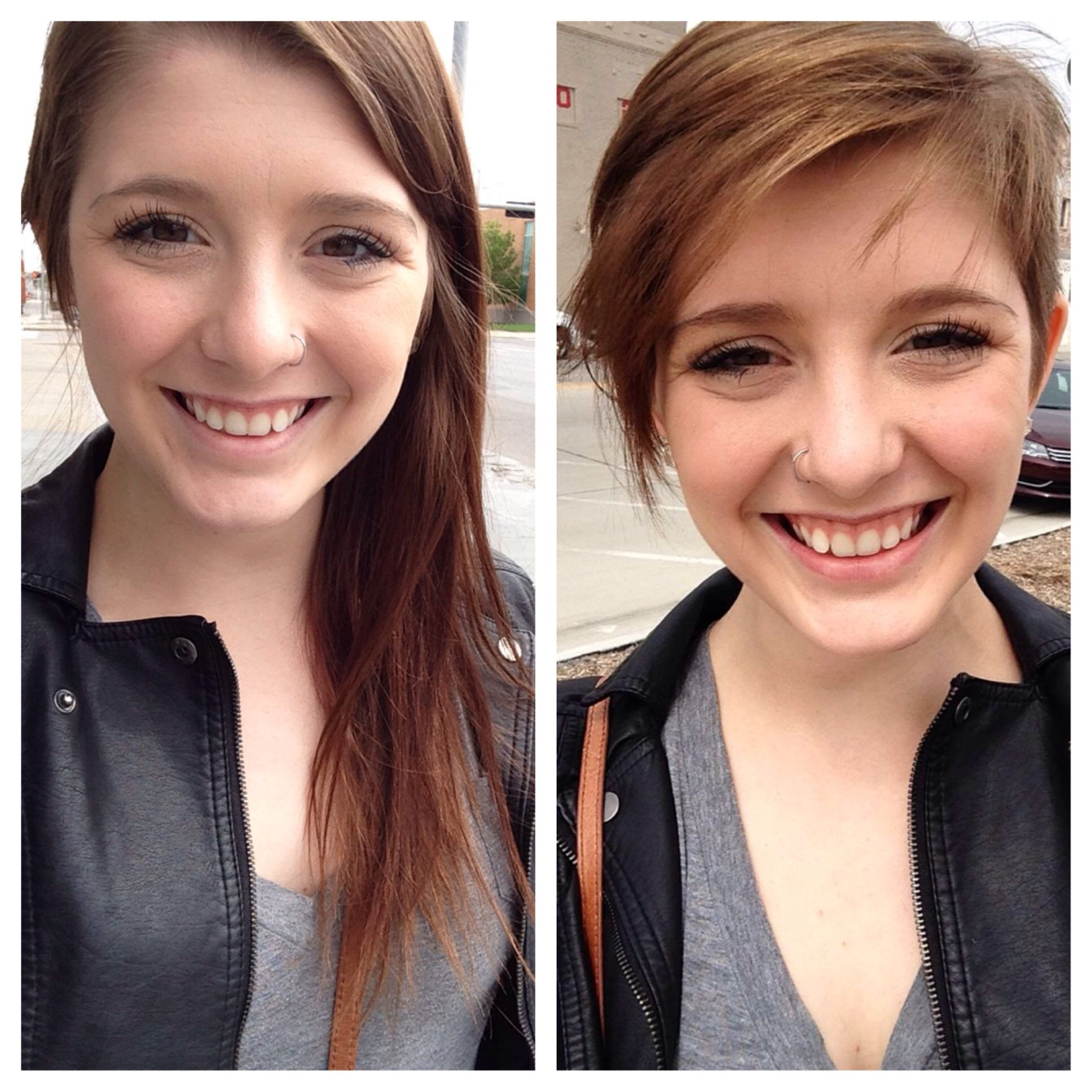 Before And After. I Cut Off All Of My Hair! Short Pixie