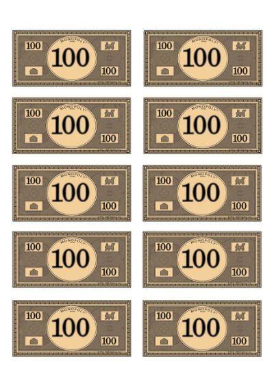 Stupendous image pertaining to monopoly money printable