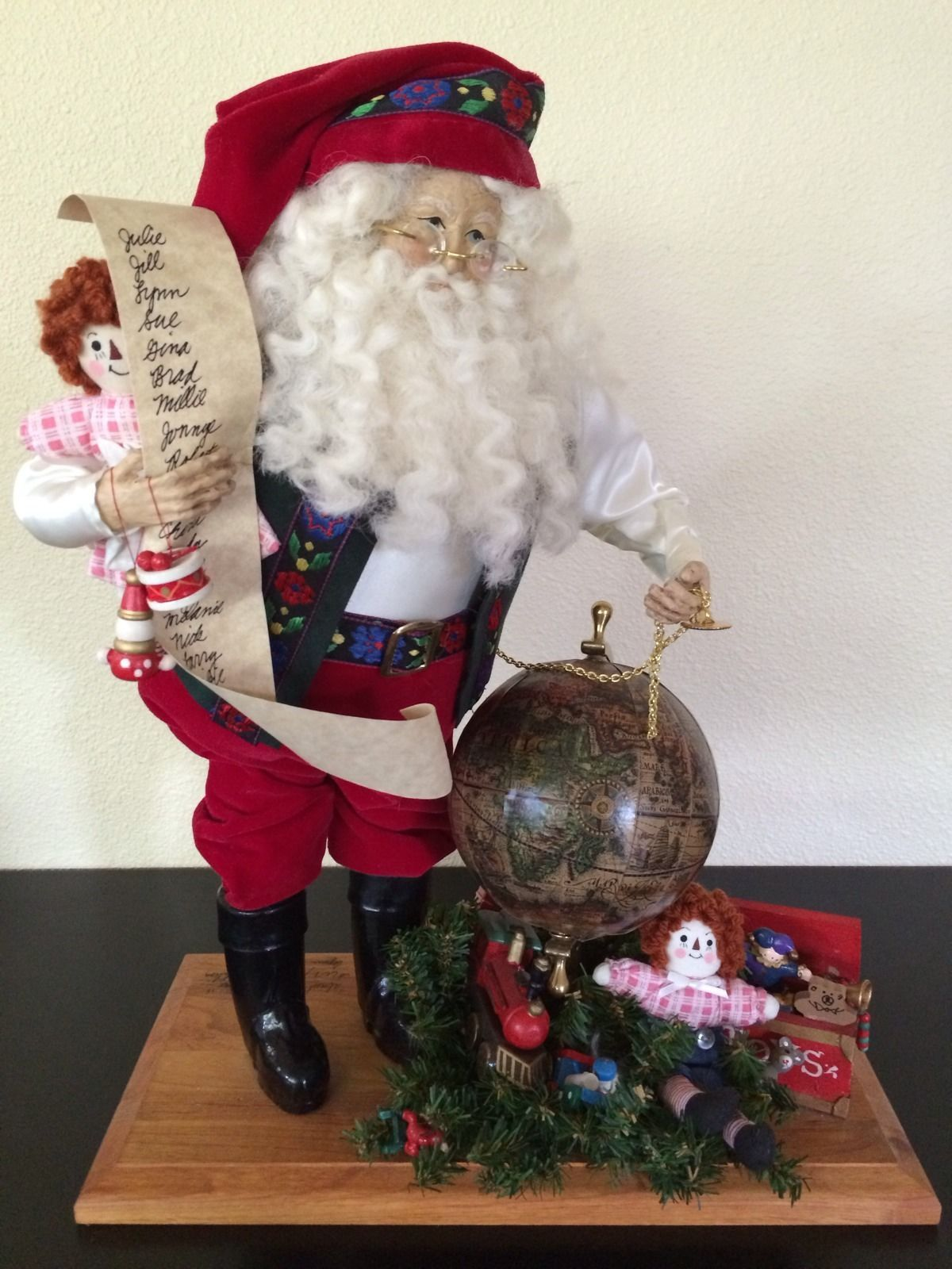 "Vintage Lynn Haney ""Almost Time for Christmas"" 18"" Santa Signed 