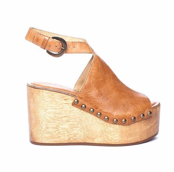 eb93cd5947c Matisse Tiegs studded wooden platform wedge sandals