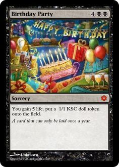 Birthday Party Mtg Magic The Gathering Card Magic Birthday