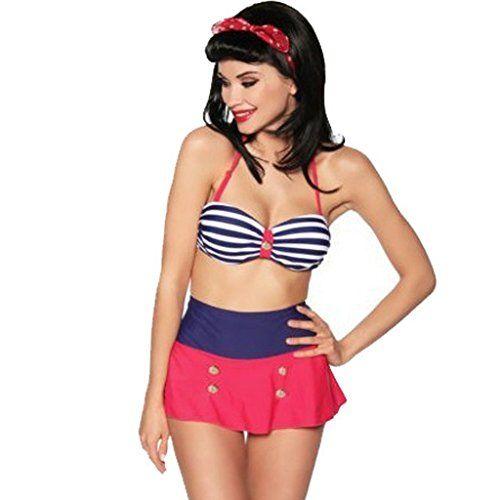 De Nouveaux Styles En Vente En Ligne Vente Acheter Bikini bandeau de style vintage-design by atixo - Multicolore - Large lp7ubTW1