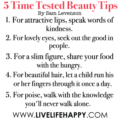 tips to be beautiful and attractive