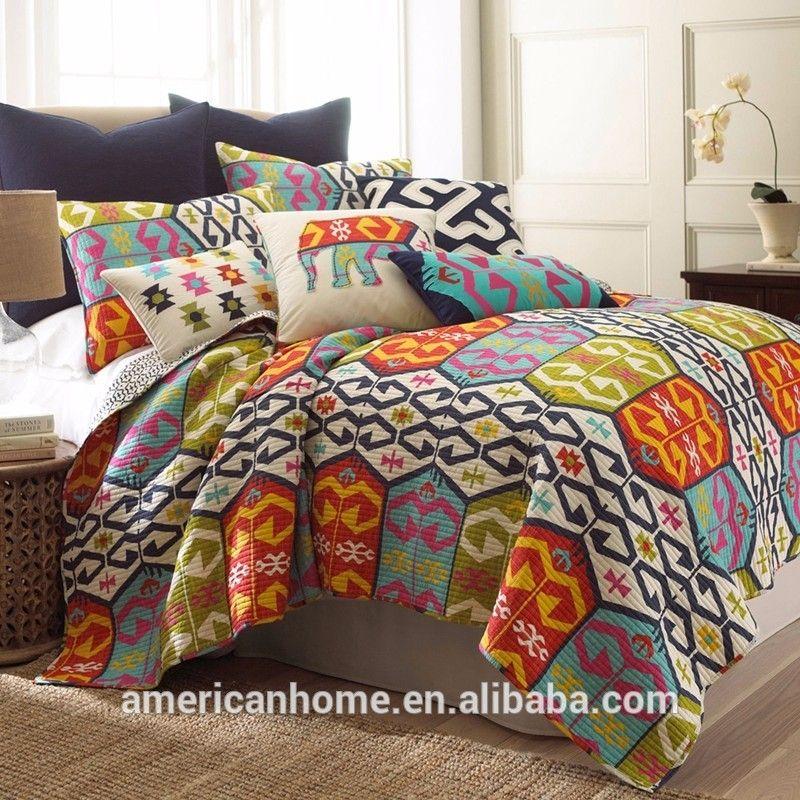 couvre lits et rideaux assortis gros