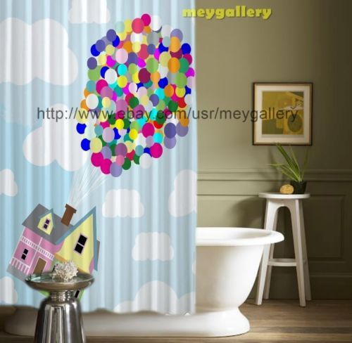 New Arrival Flaying House Up Pixar Movie Shower Curtain 60 034 X72