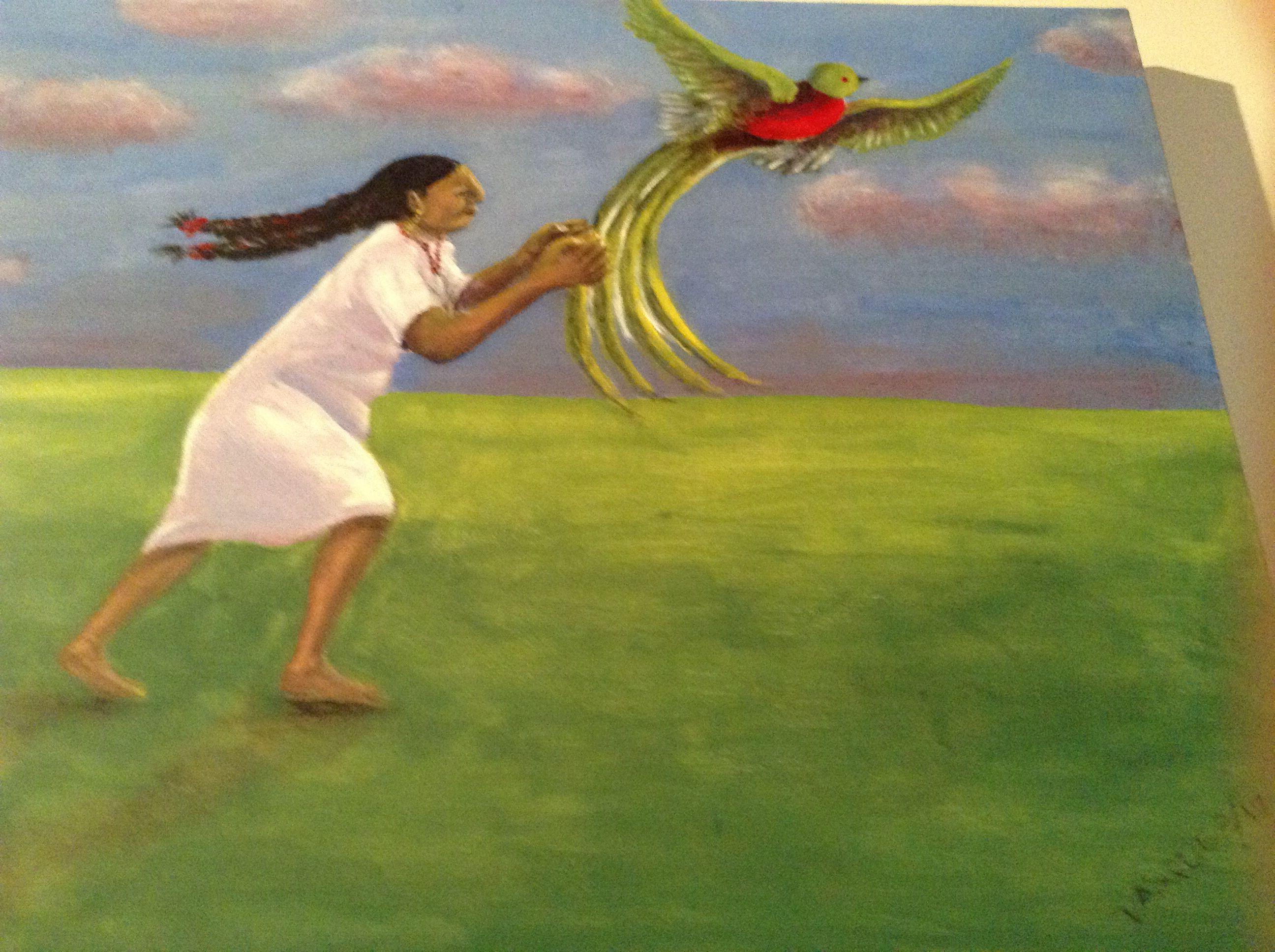 Liberacion de Quetzal by Mauricio A. Vasquez featheredserpentgallery.com
