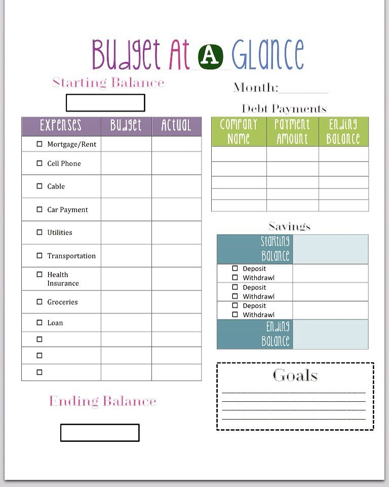 Budget Worksheet #Money #Dates #Income #Expenses #Fixed #Variables ...