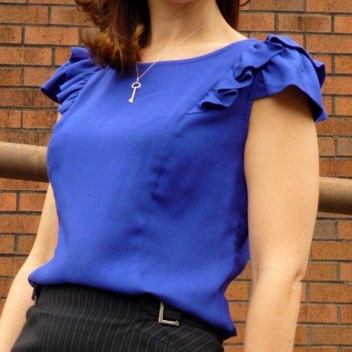 Schnittmuster: 1001 Pendrell Blouse | Blusen, Oberteile und Nähen