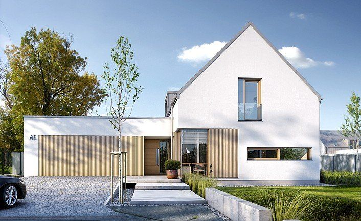 nowoczesny dom szukaj w google dom pinterest haus einfamilienhaus und architektur. Black Bedroom Furniture Sets. Home Design Ideas
