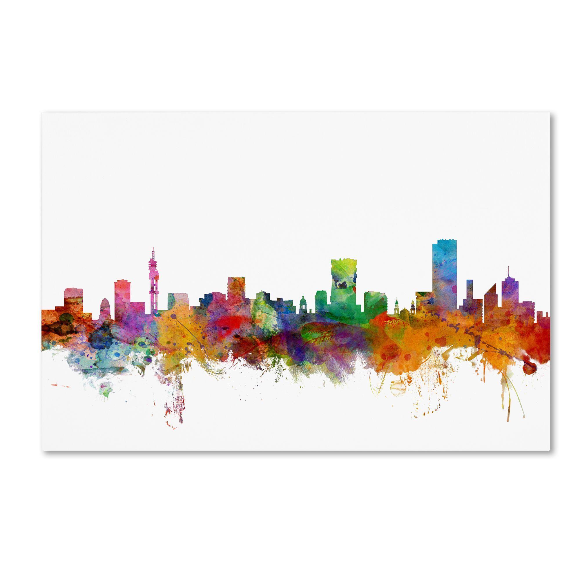 Michael Tompsett 'Pretoria South Africa Skyline' Canvas
