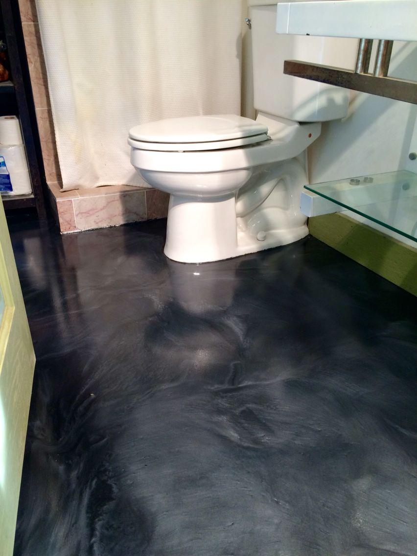 Metallic Epoxy Floor With Satin Non Slip Finish By Sierra