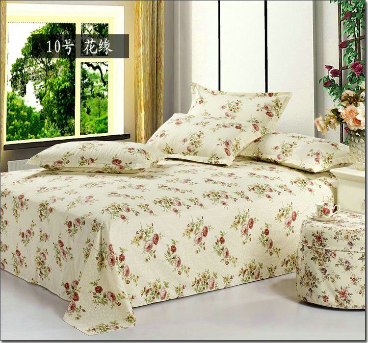 Cheap Cotton Polyester Blend Sheets, Buy Quality Sheet Foil Directly From  China Sheet Sets Full Size Suppliers: Hot Sale Rose Printed Bed Sheet Queen  King ...