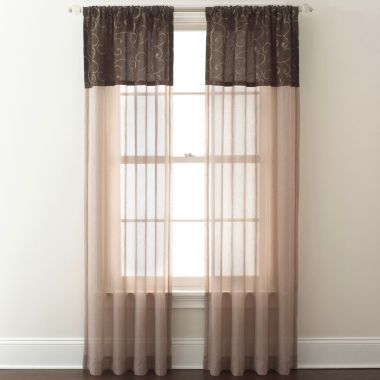 Westgate Two Tone Sheer Rod Pocket Curtain Panel Rod Pocket Curtain Panels Panel Curtains Curtains
