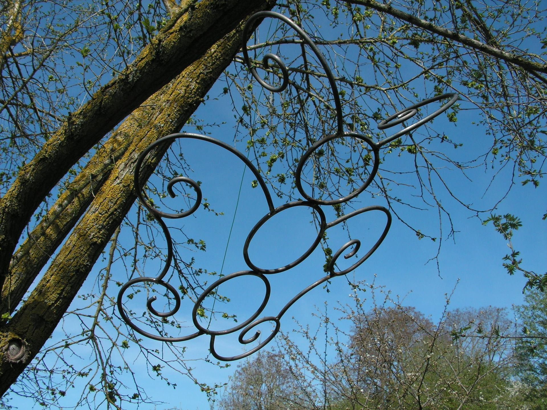 Papillon en fer forgé brut pour décoration de jardin ou autre ...