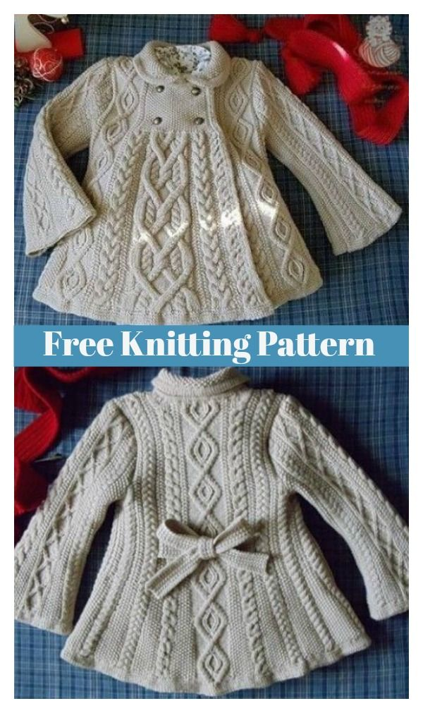 Elizabeth Coat Free Knitting Pattern | Knit and Crochet | Pinterest ...
