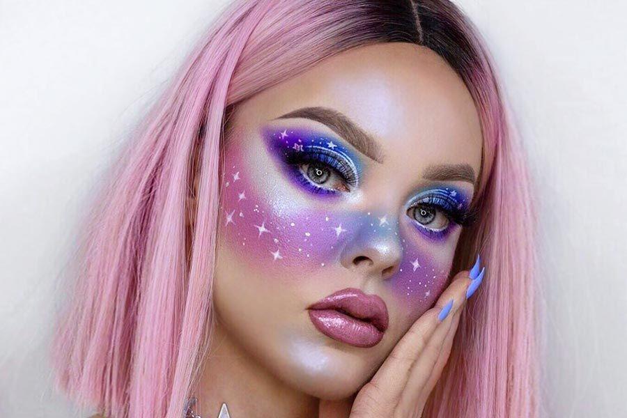 21 Galaxy Makeup Looks Creative Makeup Ideas For Extraordinary