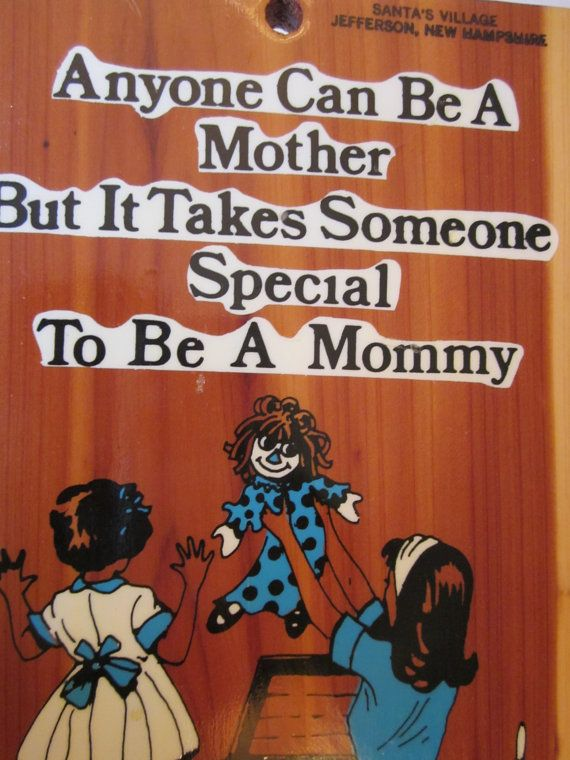Special Mommy Wooden Wall Hanging  Rustic by WhatsOnTheShelf, $15.00