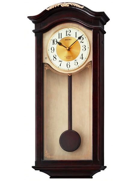 Seiko Musical Pendulum Wall Clock 12 Melodies Dark Wooden Case And Pendulum With Images Wood Wall Clock Wall Clock Clock