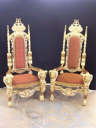 King And Queen Chairs... Had A Pair These At My Reception Except They Were  A Little Different And Were Metallic Silver / White.