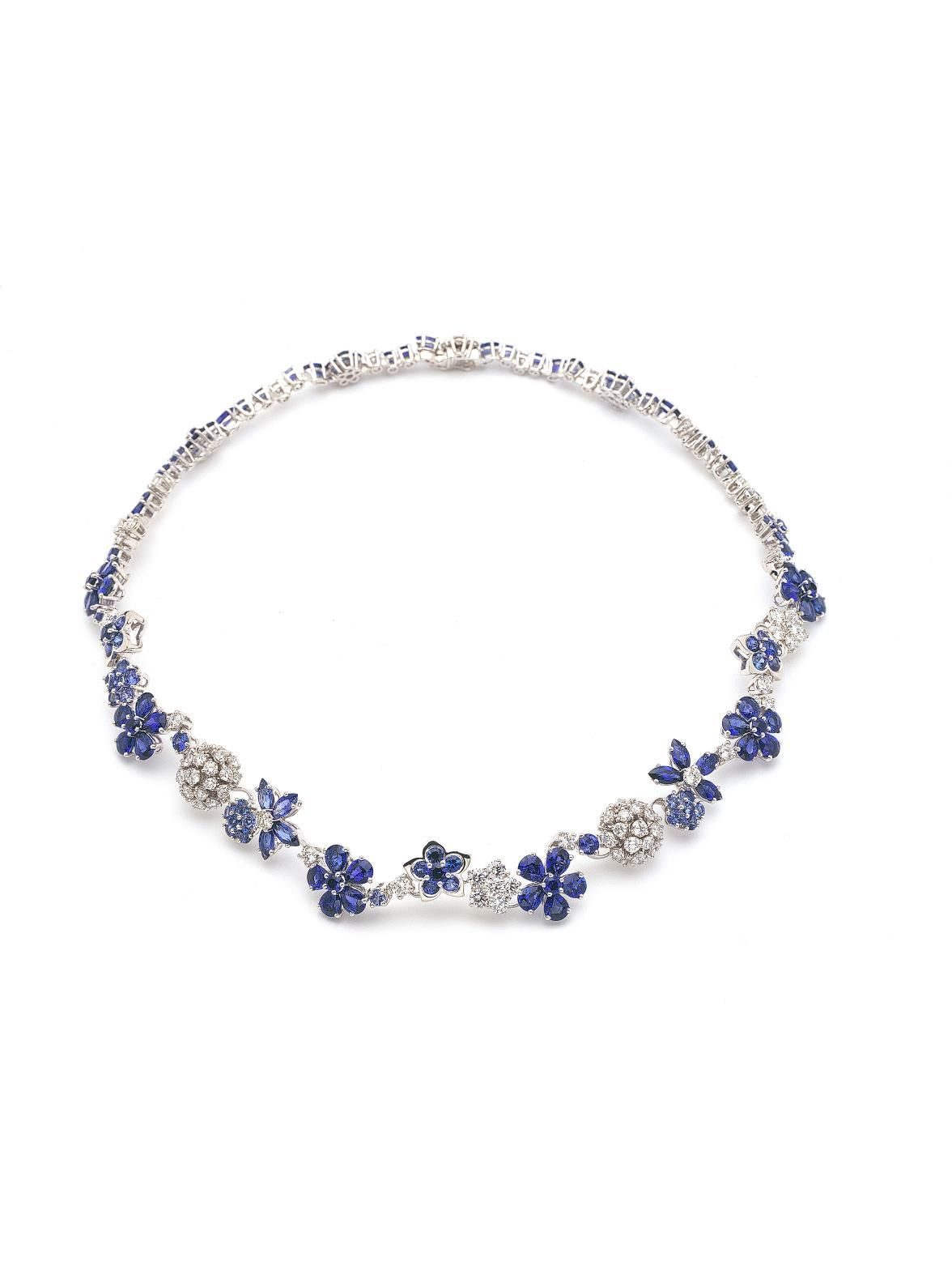 Van cleef u arpels k white gold folie des pres necklace k white