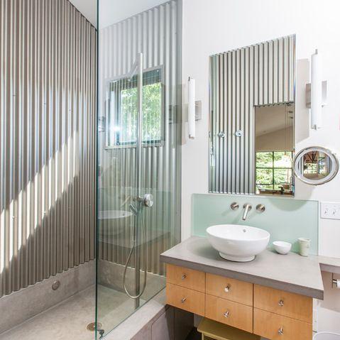 Alternative Shower Walls Minimalist Small Bathrooms Bathroom