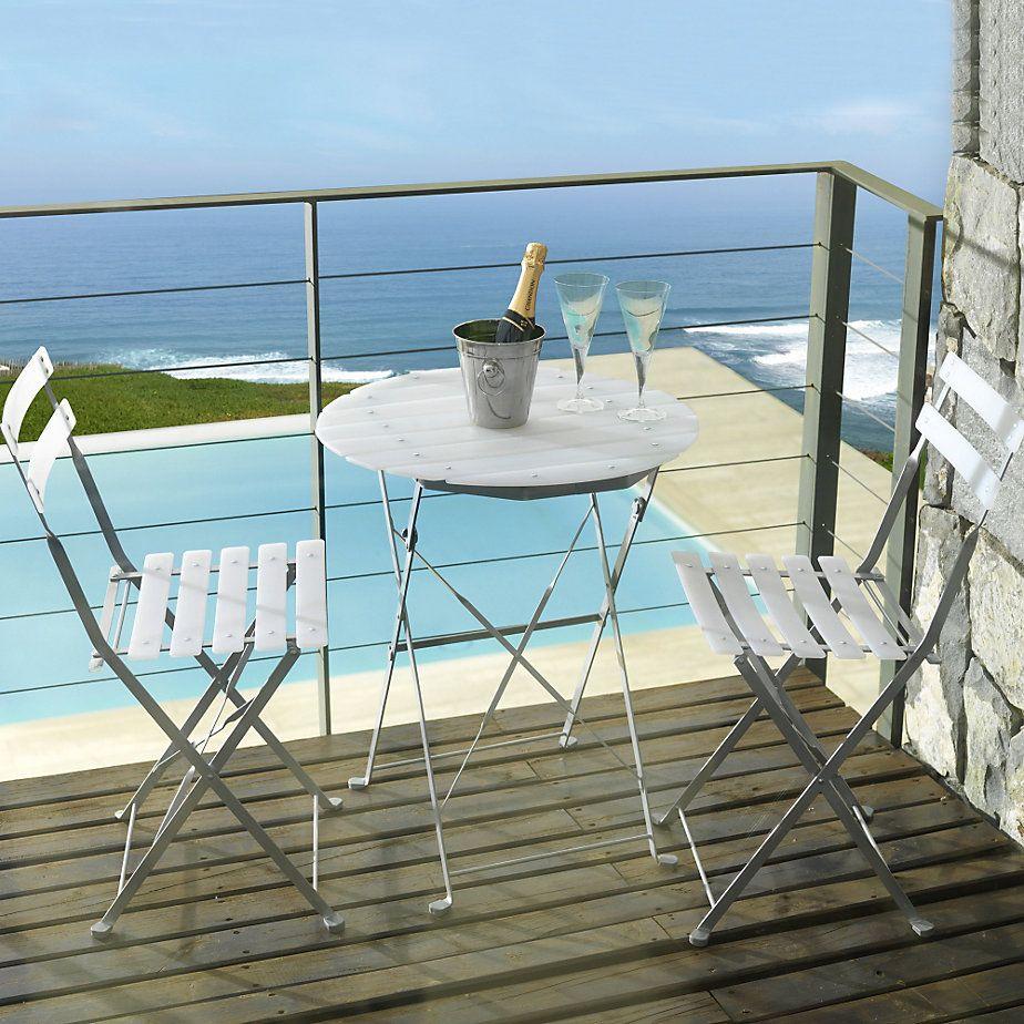 Comedor slat metal 3 piezas terrazas for Sodimac terrazas